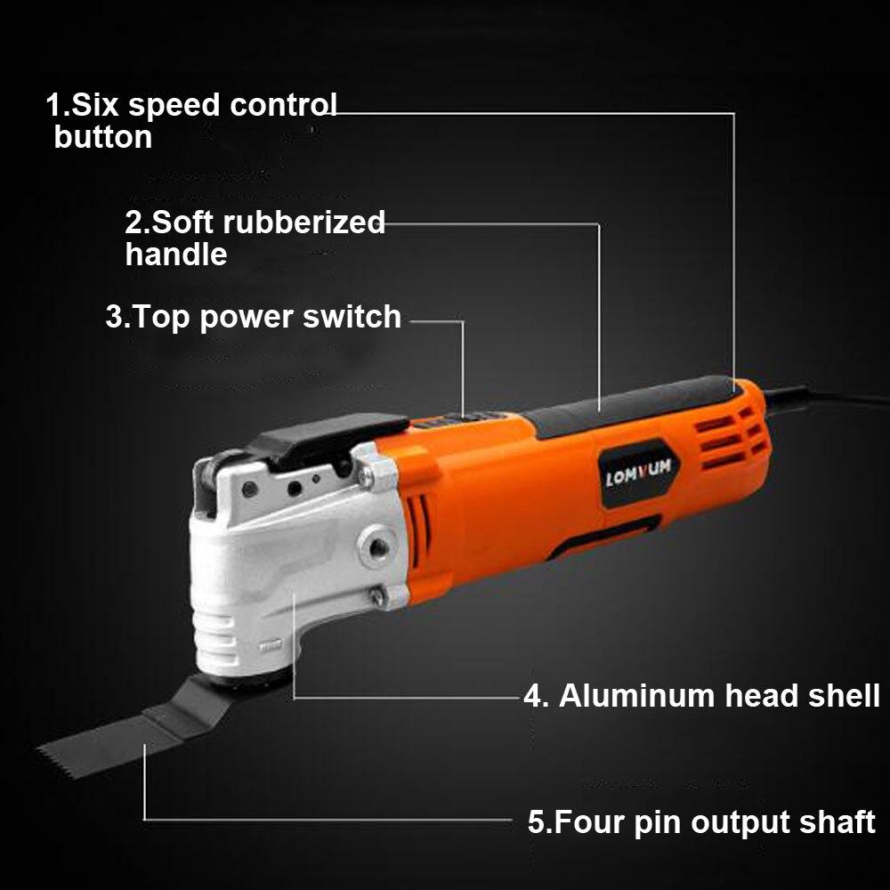 Tondeuse électrique coupe polissage meulage ouverture pelle à fente Machine multifonction travail du bois coupe outils électriques ensembles - 2