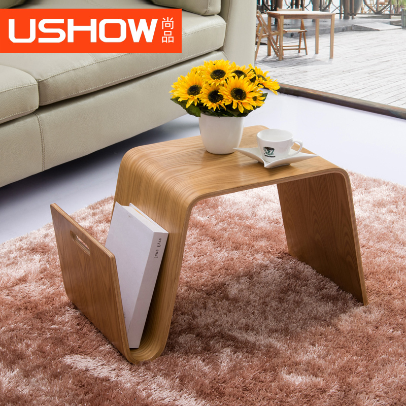 aliexpress : buy ushow wood sofa side a few small coffee table, Moderne