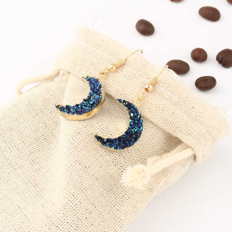 Dayoff Korean Cute Moon Long Dangle Earrings For Women Female Crescent Fashion Jewelry Charm Drop Earings E132