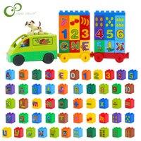 26Pcs Numero di Lettera di Alfabeto FAI DA TE Blocchi di Particelle di Grandi Dimensioni Accessori Compatibili Con I Giocattoli Per I Bambini GYH