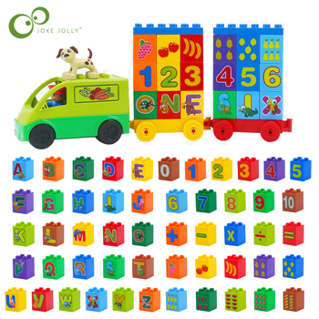 26Pcs DIY Number Letter Alphabet Large Particle Building Blocks Accessories Compatible With  Toys For Children GYH