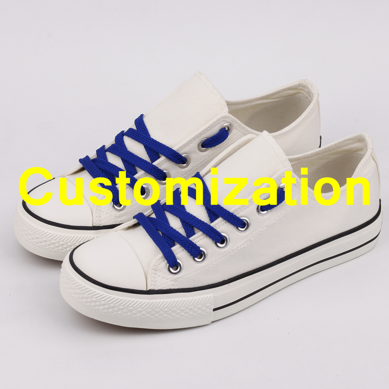 Latest Design USA Fans Customs Print Lace up Canvas Shoes Tenis Flats Customization Adult Team Print
