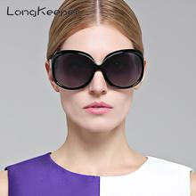 LongKeeper Sunglasses Women Polarized UV400 Oversized Vintage Female Sun Glasses Shades 3113