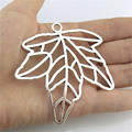 Free shipping Y20677 3pcs Antique Jewelry Alloy Findings Plant Blank Plus Maple Leaf Pendant Accessory