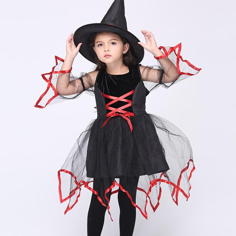 Ek129 Дети показывают одежды марли Костюмы женский костюм ведьмы Косплэй show детские танцевальные костюмы