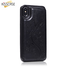 KISSCASE Classic Business Leather Case For iPhone XR XS X Card Slot Holder Stand Case For iPhone 7 Plus 7 8 6S 6 Plus 6 Funda цены