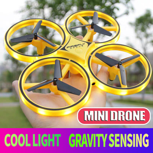 racing mini Drone UFO Induction Quadrocopter Smart Watch Gesture RC Aircraft Somatosensory Plane helicopter uav Funny Lighting