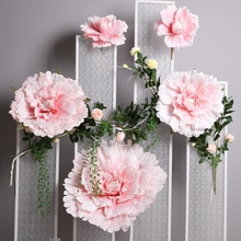 5pcs/set Large Artificial Flowers Peony Wedding Stage Background Wall Decorative Fake Flower for Home Party Decoration Prop decorative lighting inflatable flowers for stage party