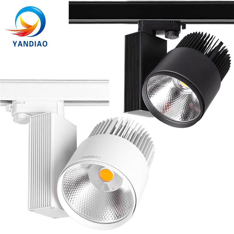 YANDIAO LED Track Light 40W 50W COB Rail Spotlights Lamp Leds Tracking Fixture Spot Lights Bulb