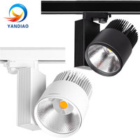 YANDIAO LED Track Light 40W 50W COB Rail Spotlights Lamp Leds Tracking Fixture Spot Lights Bulb for Store Shop Mall Exhibition