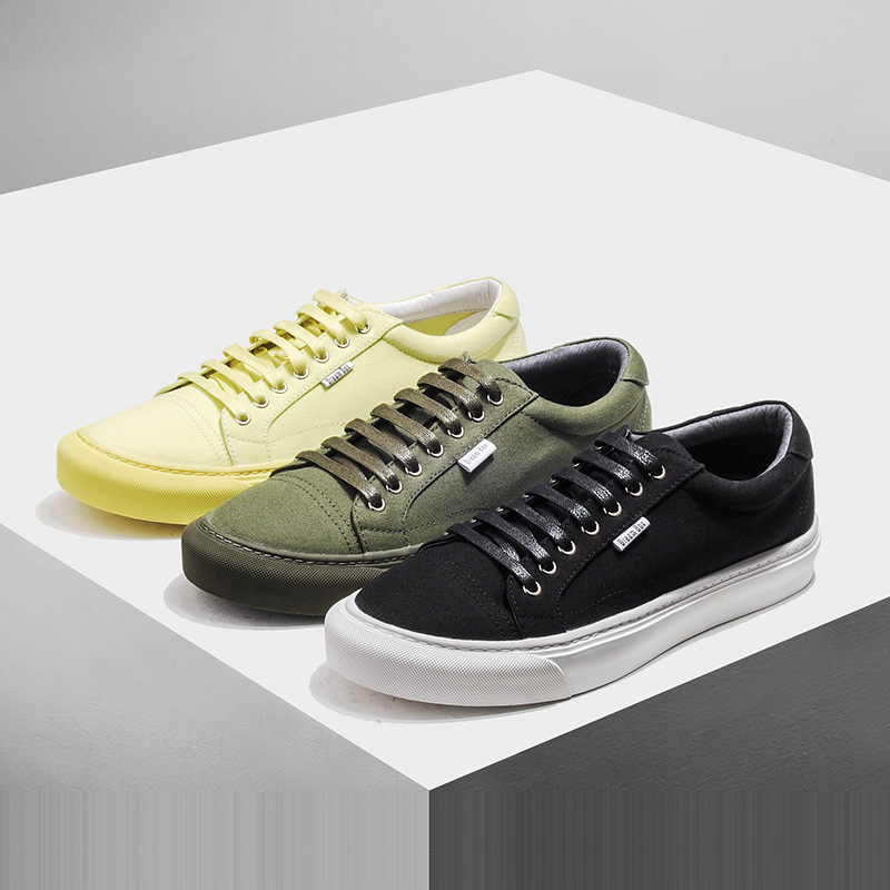 spring autumn summer head lace low canvas shoes men British retro all-match mens casual shoes breathable sneaker Leisure male