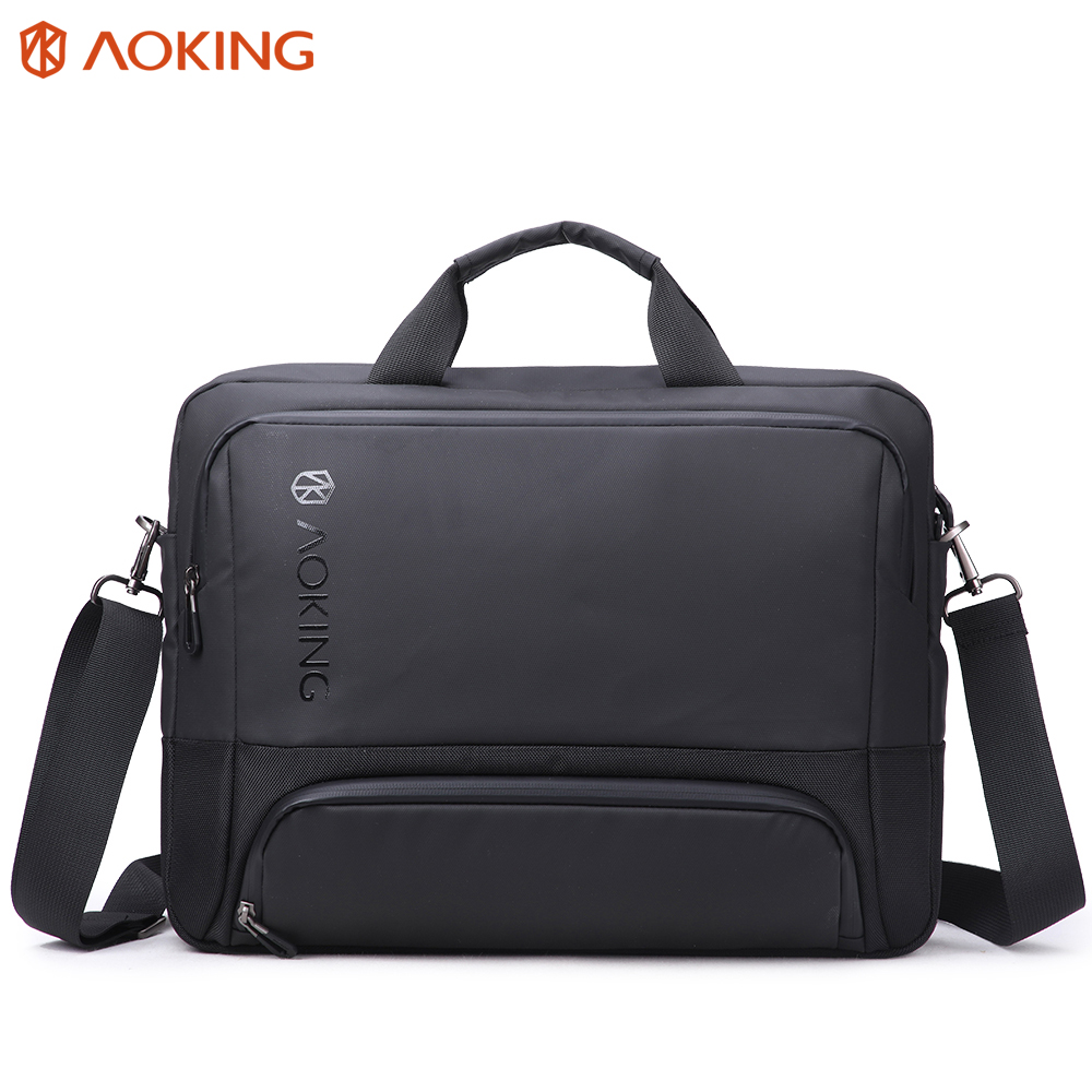 Aoking New Men s Bag Briefcase Male Laptop Portable Business Briefcase for Document Attache Case Large