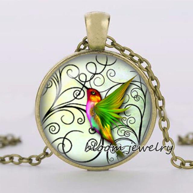 Hummingbirds art picture glass pendant handmade glass dome jewelry hummingbirds art picture glass pendant handmade glass dome jewelry gift wholesale pt016 aloadofball Gallery