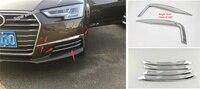 Lapetus מול ראש ערפל אורות מנורת עפעפיים גבות כיסוי Trim Fit עבור אאודי A4 B9 2016 2017 2018 2019 ABS אביזרי חיצוני|trim cover|eyebrow trimlight trim -