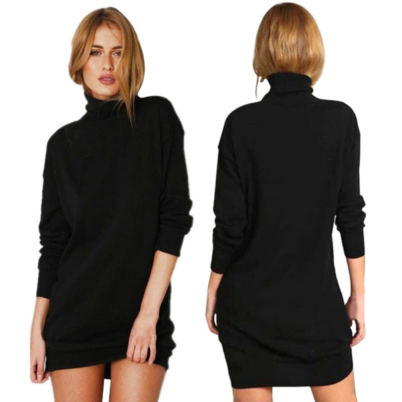 New Hot Selling ETOSELL Autumn Winter Warm Stretch Sweaters Long Sleeve Knit BodyCon Slim Black Fashion High-necked Sweater