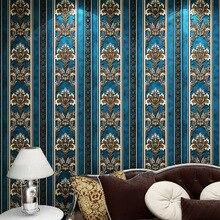 Папье peint Европейский 3D Обои Цветок 3D Обои Спальня Нетканые Обои для Стен 3D Полосатый Стены Рулона Бумаги