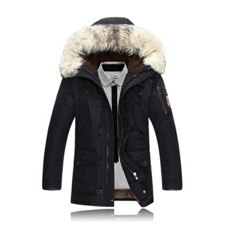 2017 warm coats fashion  brand Casual jackets For men thickening coats for winter cotton quilted outerwear winter jacket For men