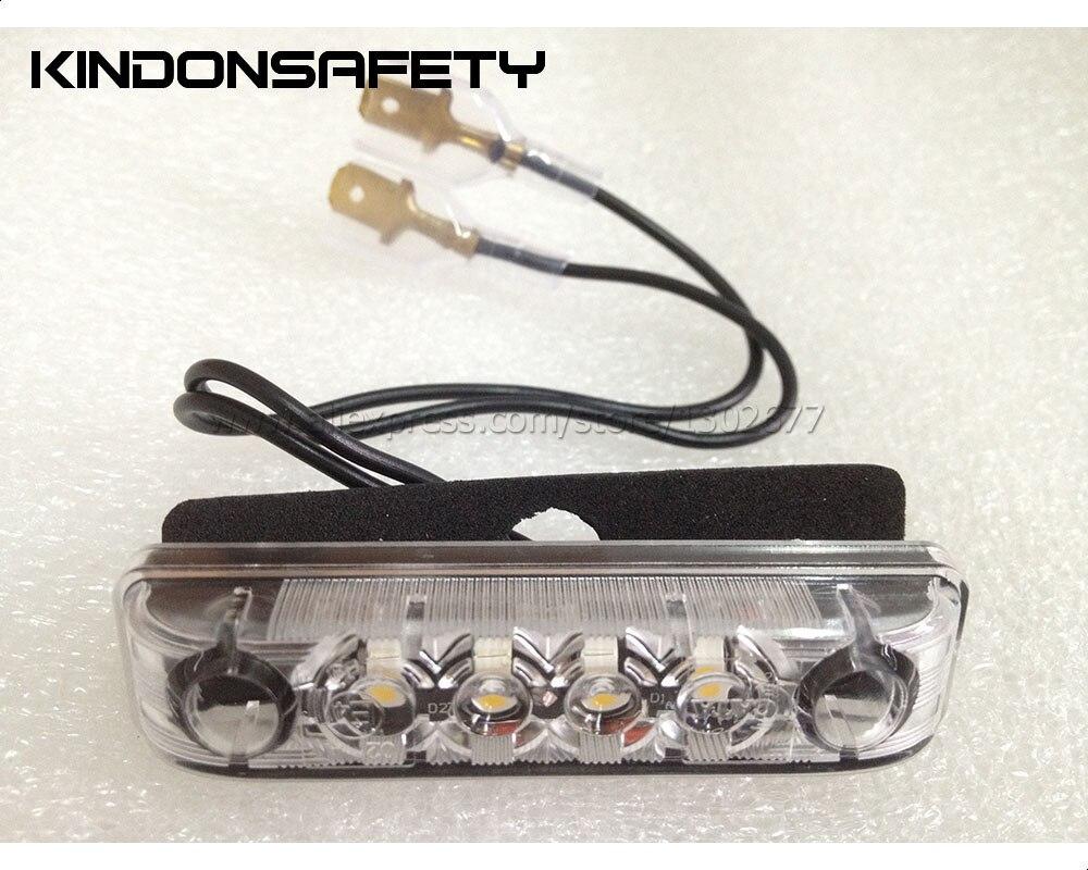 20 шт.() E-MARKED светодиодный передний фонарь с 4 шт. SMT СВЕТОДИОДНЫЙ s, светоизлучающий белый свет, PMMA прозрачные линзы, 12 В