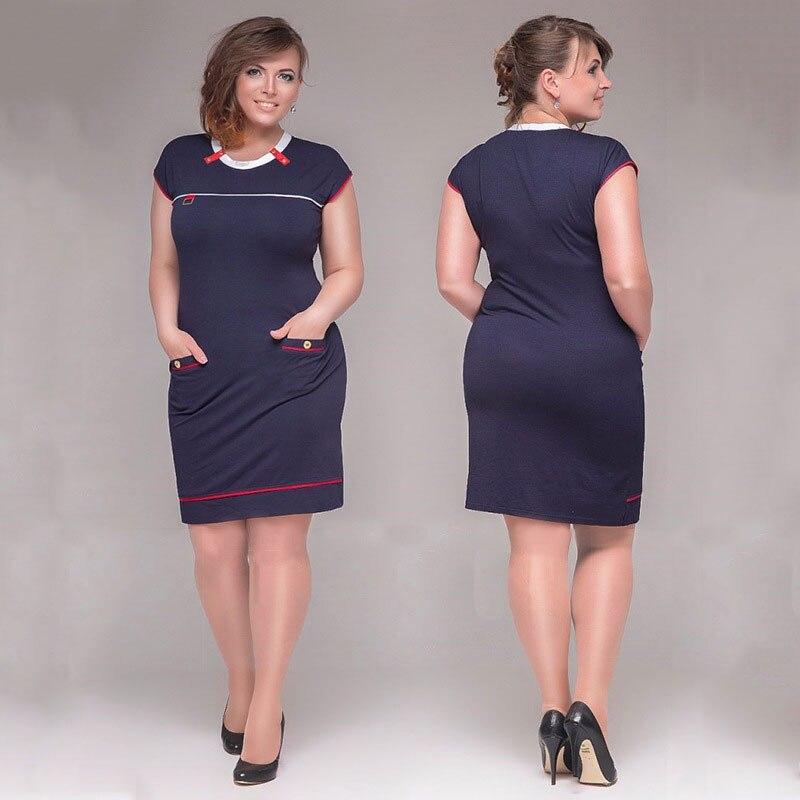 Big Size 6XL Woman Dress 2017 Hot Summer Short Sleeve