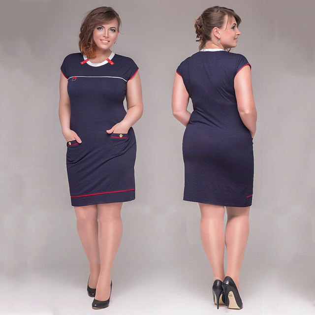 eab7452fc23 Big size 6XL woman dress 2019 hot summer short Sleeve patchwork dresses  plus size fat MM women clothing 6xl dress free shipping