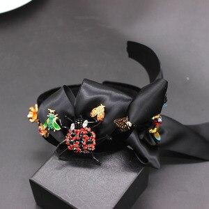 Image 3 - New Baroque exaggerated wild headband  beetle bee bow hair accessories fashion ball wild headband 594