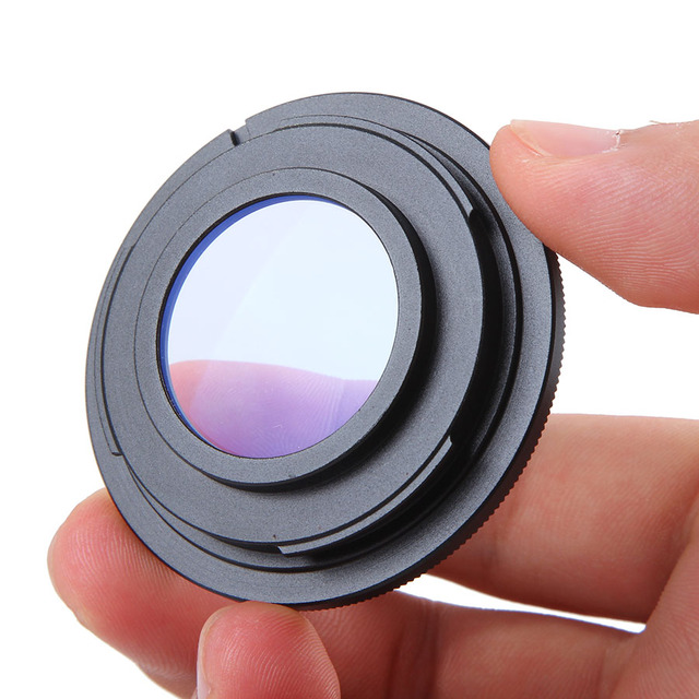 Metal Black Camera Lens Adapter Ring with Glass M42 Thread Mount Lens for Nikon D3200 D3300 D5100 D5200 D5500 D7100 D90 (M42 AI)