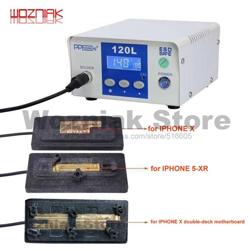 PPD PPD120L 120L Dessoldar Estação De Retrabalho Desoldering Chip da CPU A8 A10 A12 Remover Solda Plataforma para iPhone A8-A12 X principal placa