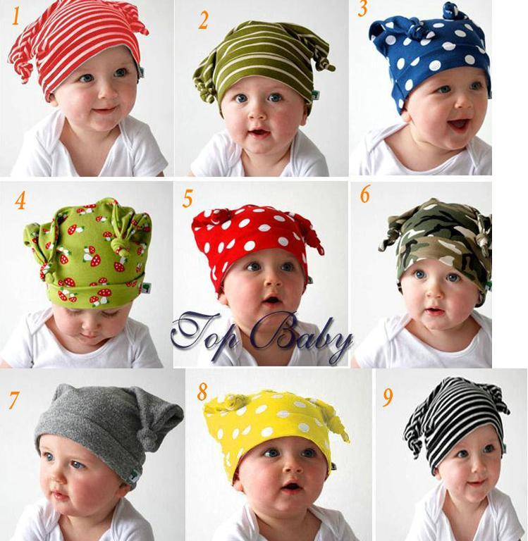5pcs/lot Autumn winter Top baby hat 100% cotton high quality toddler spirits beanies topbaby beanie dr0001-43