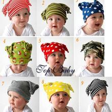 5pcs/lot Autumn winter Top baby hat 100% cotton toddler