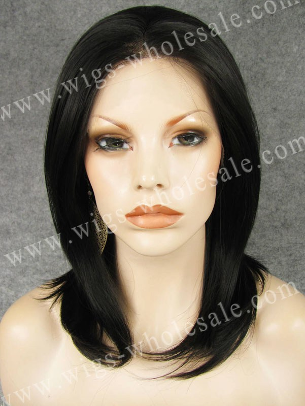 ФОТО Wholesale Best Natural Black Synthetic Front Lace Wig for Women