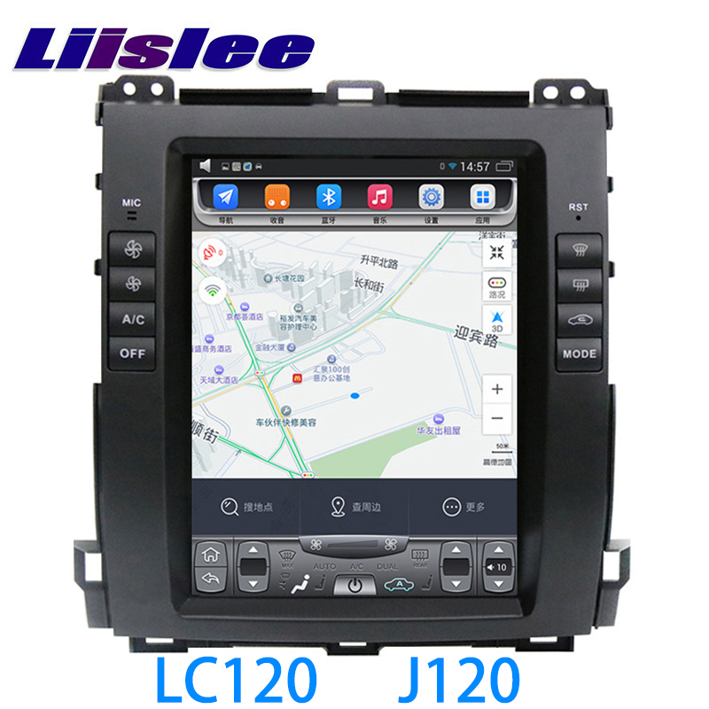 LiisLee Car Multimedia GPS Audio Radio Stereo For TOYOTA Land Cruiser Prado LC120 J120 2002~2009 Original Style Navigation NAVI Toyota Land Cruiser