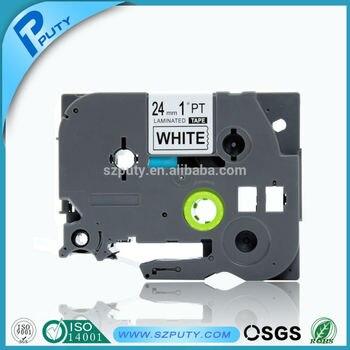 5PK P-touch черный на белый совместимая пленка TZ картридж TZ-251 TZe-251