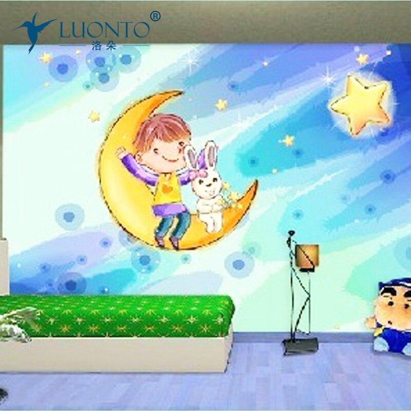 Nouveaux Films décoratifs de haute qualité auto-adhésif enfants grande murale grand 3d mur enfant réel pvc papier peint décor à la maison stickers muraux