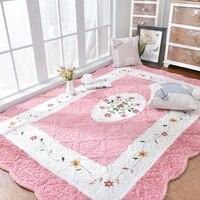 Медовый Розовый Мат «татами» 200*230 см, стеганый коврик из 100% хлопка для окружающей среды для гостиной, коврик для йоги, подушка для детских по