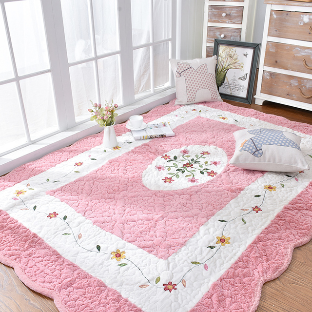 Honey pink tatami mat 200*230cm ,quilted 100% cotton environmental ...