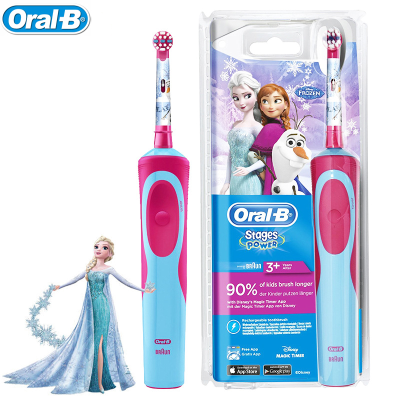 Oral B Rechargeable Toothbrush for Children Oral Hygiene Waterproof Children Electric Toothbrush for Kids Ages 3+ image