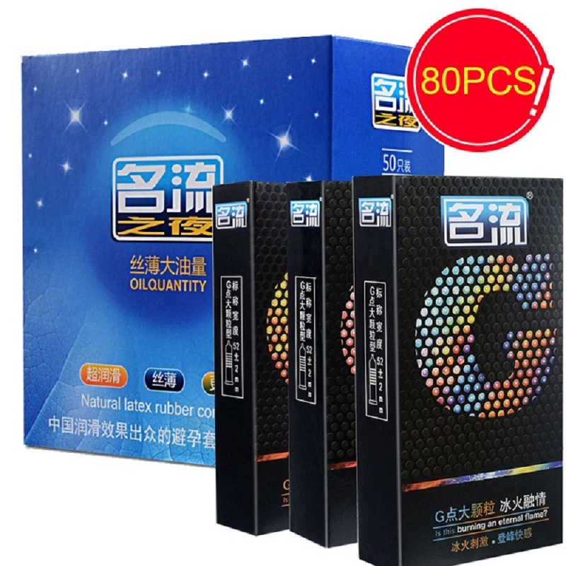 Buy PERSONAGE 80Pcs/Lot hot fire ice G spot Condoms Smooth Natural Latex Rubber Condom Sex Safe Contraception