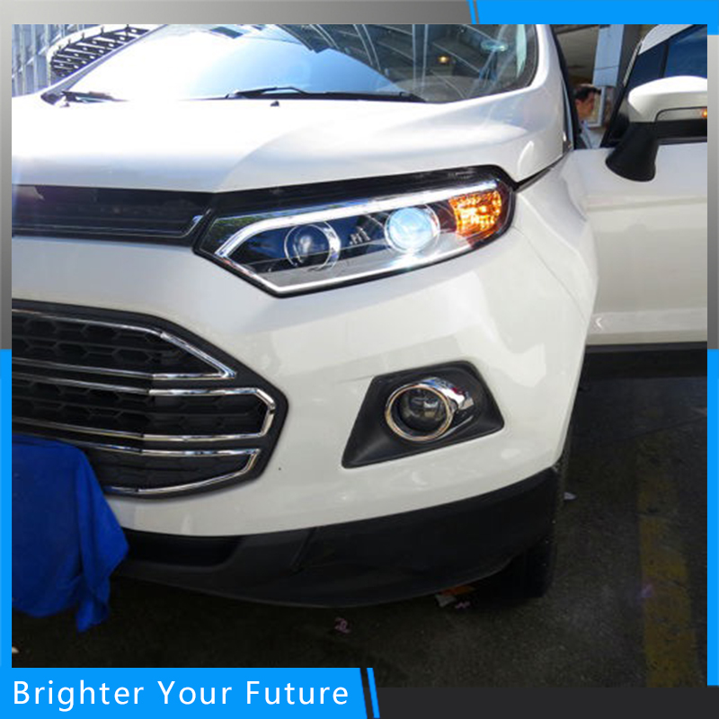 New Type Head Lamp Headligh  For FORD EcoSport 2013-2016 LED Strip Front Lights Lamps стоимость