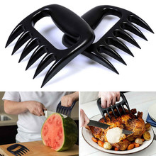 MOSEKO 2 PCS/Set New Bear Claws Barbecue Fork Tongs Pull Meat Shred Pork Clamp Roasting Fork Black BBQ Set Barbecue Tool