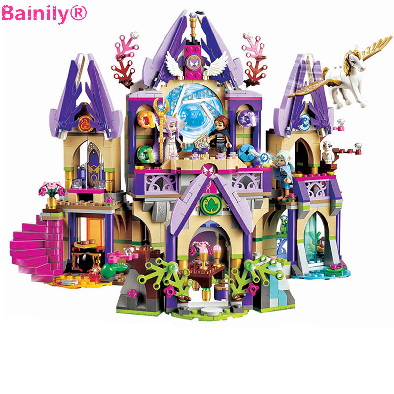 [Bainily] 809Pcs Elves Skyra's Mysterious Sky Castle Girls Building Blocks Compatible with LegoINGly Friends Children Toys Gift 809pcs new 10415 elves azari aira naida emily jones sky castle fortress building block toys