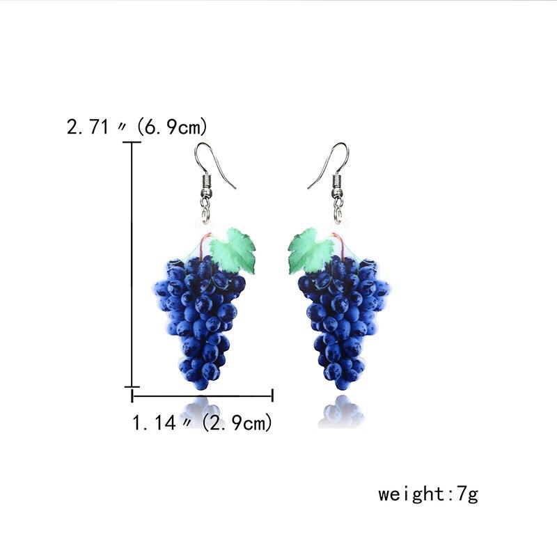 New fashion Acrylic earrings accessories fruit earrings Lovely Temperament Mango avocado cantaloupe Long Earrings For Women in Drop Earrings from Jewelry Accessories