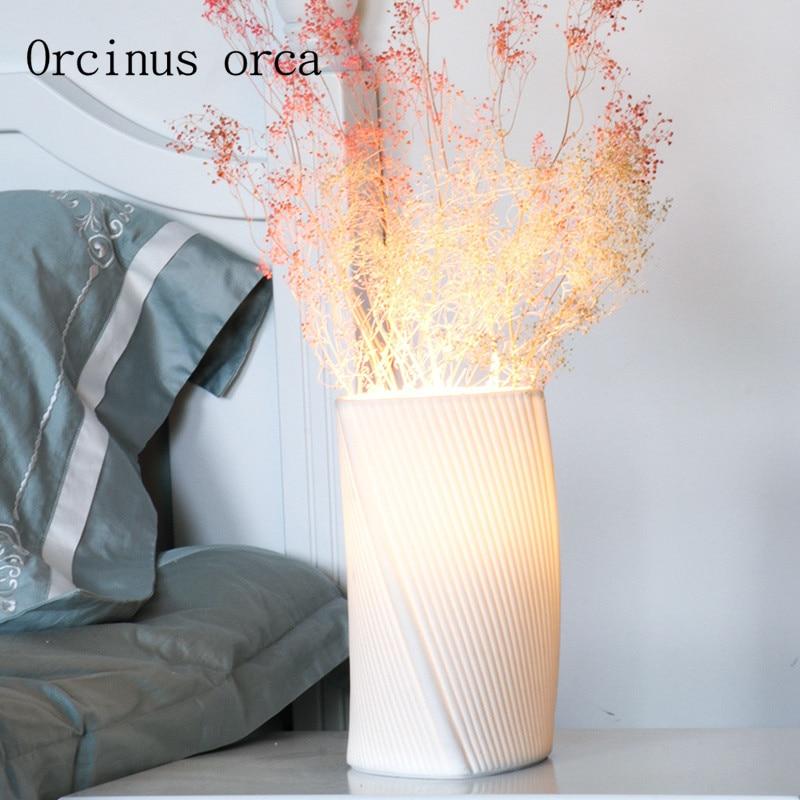 Nordic white ceramic decorative desk lamp bedroom bedside lamp modern minimalist creative romantic floral desk lamp modern minimalist wood desk lamp creative bedroom bedside lamp decorative cloth desk lamp free shipping