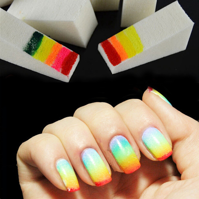 LNRRABC 8 piece/set DIY Gradient Sponges Nail Art Tools Accessories Magic Nail Equipment Supply Color-in Stickers & Decals from Beauty & Health on ...