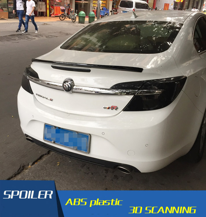 For Buick Regal Spoiler High Quality ABS Material Car Rear Wing Primer Color Rear Spoiler For Buick Regal Spoiler 2014 2015|rear spoiler|car rear wing|rear wing - title=