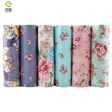 Kwiaty skośnym tkaniny bawełniane do szycia shee tkanki dla niemowląt i dzieci diy patchwork pikowania, poduszki, Poduszki, 6 SZTUK/PARTII 40*50 CM(Hong Kong)