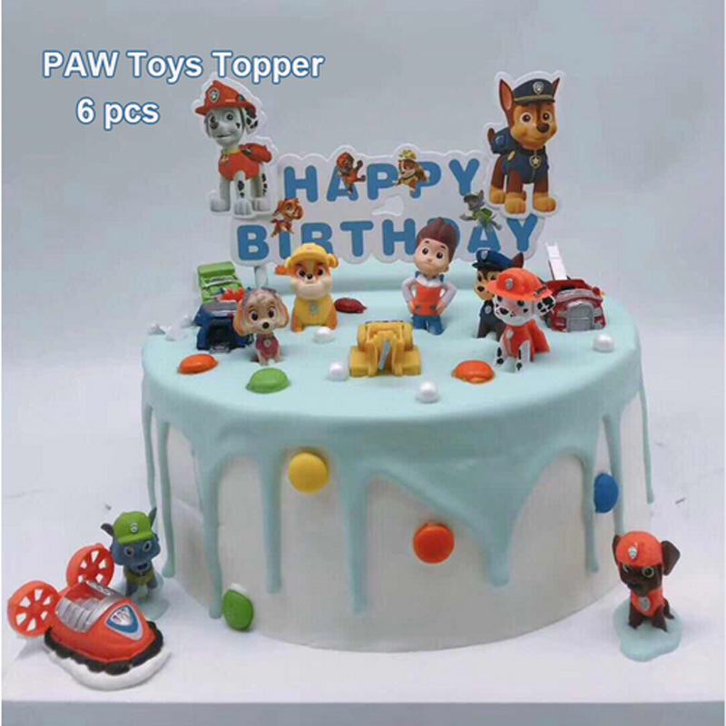 Super 6Pcs Lot Paw 3D Dog Toy Paw Birthday Supplies Party Decorations Funny Birthday Cards Online Alyptdamsfinfo
