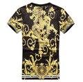 Homens de verão / criativo sol Medusa impressão 3d t hip hop camisa roupas Harajuku