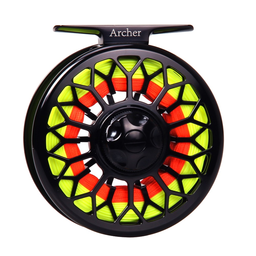 3/4 5/6 7/8WT Fly Reel Combo CNC Machined Large Arbor Aluminum  Black Fly Fishing Reel with Reel Bag Fly Line Backing Leader 95mm fly fishing reel 7 8 cnc machined aluminum 2 1bb fly spool fishing wheel fishing accessory