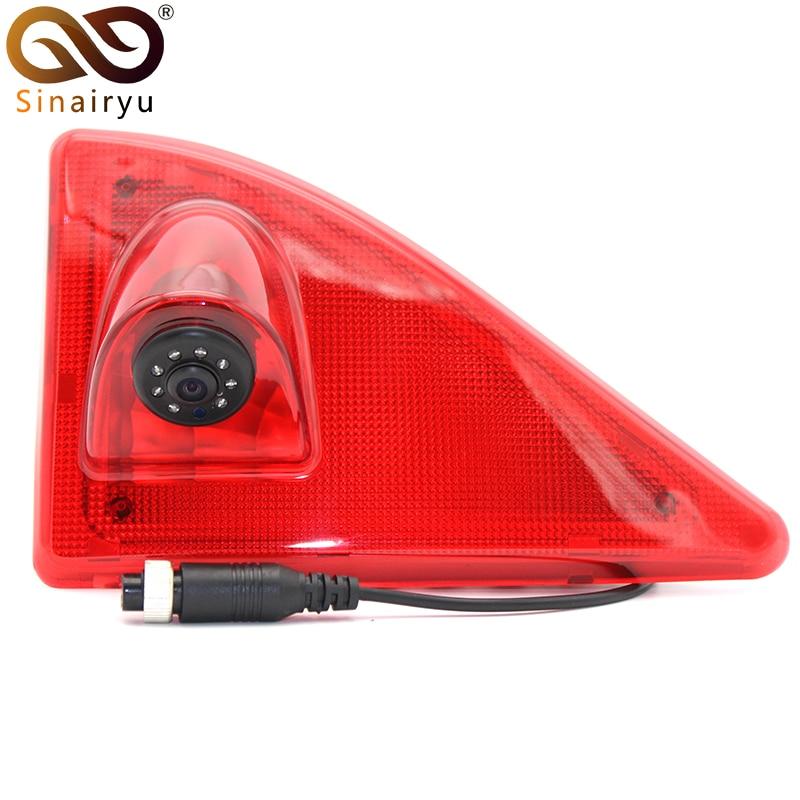Sinairyu pour Renault Master Opel Movano Nissan NV400 feu de freinage caméra de recul avec LED caméra de frein de stationnement CCD IR