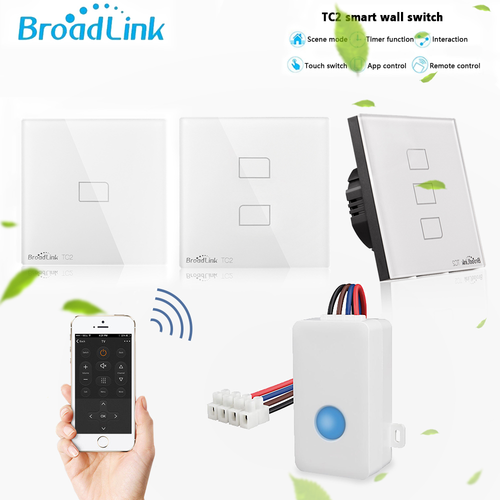 Broadlink Original TC2 SC1 WiFi Remote Controller EU Light Switch Touch Panel Smart Home Work With Alexa Google Home Via RM Pro